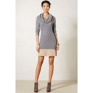 Sparrow Anthropologie Sweater Dress Cowl Neck A5